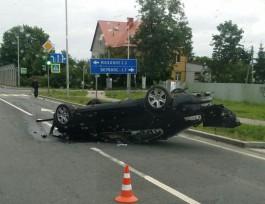 УМВД: Под Зеленоградском «Ягуар» с пьяным водителем вылетел на встречку и перевернулся
