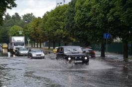 «Под шум волн»: как затопило центр Калининграда после дождя