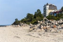 При строительстве берегоукреплений в западной части Зеленоградска отремонтируют четыре спуска