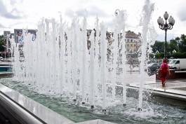 С 1 мая в Калининграде заработали фонтаны