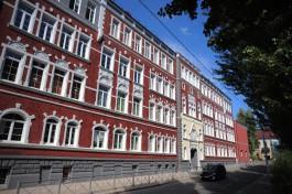 «Под стать королеве»: в Калининграде восстановили фасад немецкой гимназии на улице Тюленина