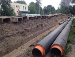 На Литовском валу в Калининграде «Теплосеть» начала перекладку трубопровода