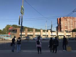 На площади Василевского перенесли пешеходный переход через улицу 9 Апреля