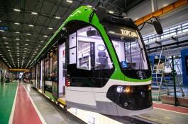 Новый трамвай «Корсар» отправили на тест-драйв в Калининград из Санкт-Петербурга