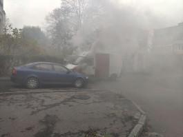 В МЧС рассказали подробности пожара на улице Воздушной, где загорелись «Ситроен» и «Шкода»