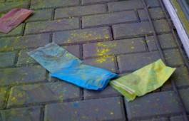 Цветная грязь в Калининграде