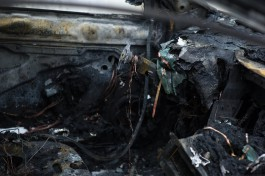 Ночью в Калининграде горел внедорожник Toyota Land Cruiser
