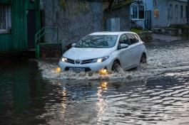 Мэрия: В Калининграде за час выпало близкое к критической отметке количество осадков