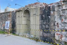 В Калининграде огородили арку Южной террасы Королевского замка после обрушения