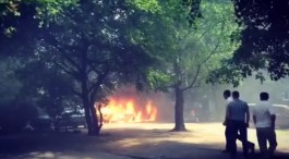 В Калининграде на ул. Хмельницкого горели пять автомобилей