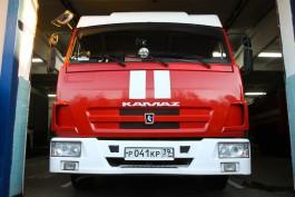 В Калининграде пожарные тушили дачный дом