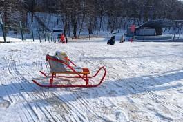 В Центральном парке Калининграда пообещали не засыпать «нелегальную» горку
