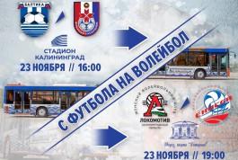 «С футбола на волейбол»: «Балтика» организует шаттлы от стадиона до ДС «Янтарный»
