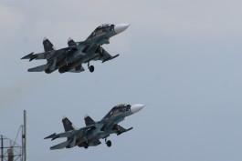 Лётчики Балтфлота выполнили бомбометание по морским мишеням
