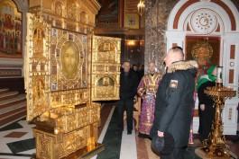 В Кафедральный собор Калининграда привезли главную икону Вооружённых сил России
