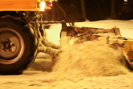Ночью в Калининграде сломались четыре снегоуборочные машины