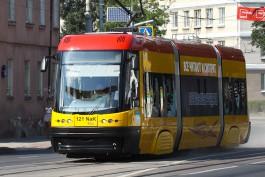«Калининград-ГорТранс» выпустил на линию польский трамвай PESA
