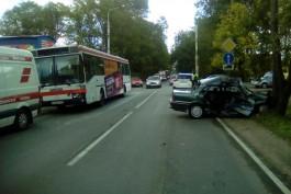 УМВД: В аварии с автобусом на Советском проспекте пострадал водитель «Митсубиси»