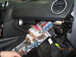 На границе на Куршской косе задержали «Мерседес» с 7330 пачками сигарет