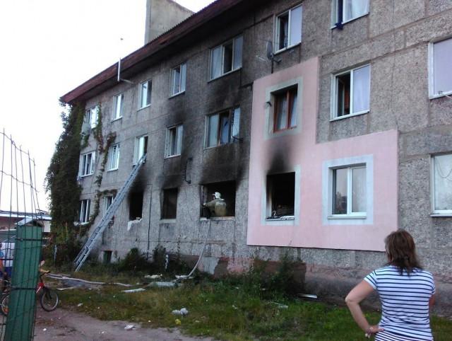 Один человек пострадал вовремя пожара вжилом доме под Калининградом