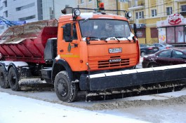 В Калининграде перешли на зимний режим уборки улиц