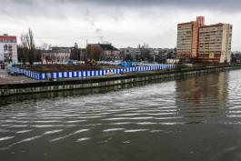 Мэрия хочет реконструировать берегоукрепление на набережной Преголи в районе бывшего ДКМ