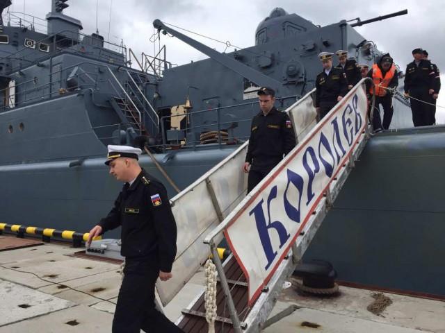 Десантный корабль «Королев» вернулся вБалтийск после похода вСредиземноморье