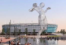 Скульптуру «аквамена» у стадиона к ЧМ-2018 в Калининграде хотят сделать из сетки
