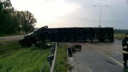 В Польше фура заблокировала трассу до Гданьска