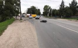 В Гурьевском округе 19-летний скутерист пересёк сплошную и врезался в «Фольксваген»
