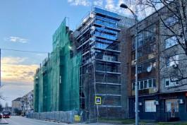 Рабочие начали остекление фасадов Кройц-аптеки в Калининграде