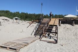 В Балтийске частично демонтируют деревянный променад