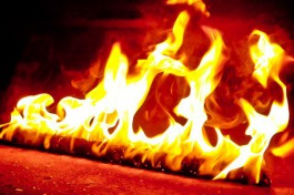 Под Гусевом при пожаре в жилом доме пострадал человек