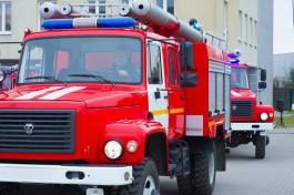 Во время пожара в Багратионовске пострадала женщина